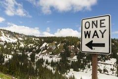 Jeden sposób przejażdżka w Mt Dżdżystym parku narodowym w stan washington obrazy royalty free