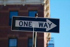 Jeden sposób Szyldowy NYC zdjęcie stock