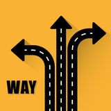 Jeden sposobu drogowego znaka reklamy projekt, Obraz Royalty Free