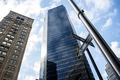 Jeden sposobu Miasto Nowy Jork usa szyldowa linia horyzontu Duży Apple Zdjęcia Royalty Free