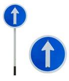Jeden sposobu ruchu drogowego znak Zdjęcie Royalty Free