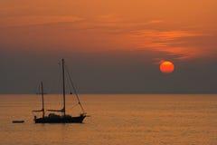 jeden statek słońce Zdjęcie Stock