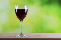 Jeden szkło czerwone wino Zdjęcia Royalty Free