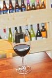 Jeden szkło wino Zdjęcia Stock