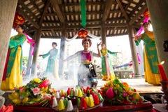 Jeden tradycyjni festiwale w Wietnam zdjęcia stock