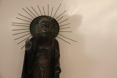 Jeden Trwanie metalu Buddha błogosławieństwo obraz royalty free