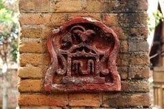 Jeden ulga na ściana z cegieł w kompleksie Wielki Meczetowy Kotagede Obrazy Royalty Free