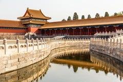 Jeden Wewnętrzni jardy w cesarz zakazującej miasto dowcipu fosie, s zdjęcia royalty free