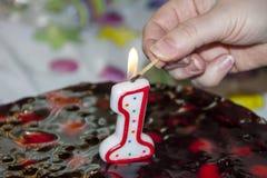 Pierwszy urodziny Zdjęcia Royalty Free