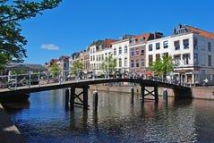 Jeden wiele mosty w Leiden miejsce narodzin Rembrandt zdjęcia stock