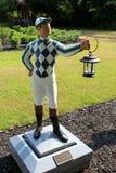 Jeden wiele statuy dżokeje świętuje wyścigi konny i sezon, Saratoga Nowy Jork, 2018 zdjęcie stock