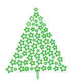 jeden świerkowy drzewo Fotografia Royalty Free