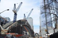 Jeden world trade center budowa Obrazy Royalty Free