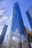 Jeden world trade center MANHATTAN, NOWY JORK, KWIECIEŃ/- 2, 2017 - nowy drapacz chmur - Obraz Stock