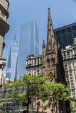 Jeden world trade center Miasto Nowy Jork usa kościelna linia horyzontu Duży Apple Obraz Stock