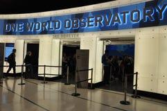 Jeden world trade center obserwaci pokład w Nowy Jork Obraz Royalty Free