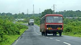 Jeden z Czerwonym autobusem Fotografia Stock