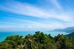 Jeden zadziwiający widok na morzu i wyspie, najlepszy miejsce dla relaksuje Zdjęcia Stock