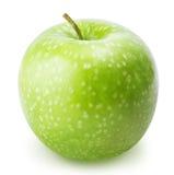Jeden zielony jabłko odizolowywający na białym tle Obraz Royalty Free