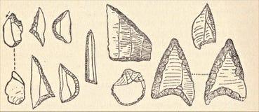 Jedenaście prehistorycznych kamieni wszystkie formes fotografia royalty free