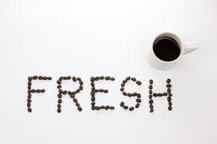 Jeder benötigt heißen Kaffee, weil ` neues ` Lizenzfreie Stockbilder