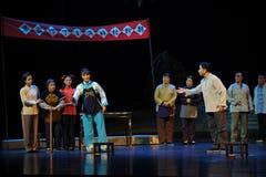 Jedes bringt seine eigene Ansichten Jiangxi-Oper eine Laufgewichtswaage zur Sprache Stockbild