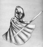 Jedi oscuro - bosquejo ilustración del vector