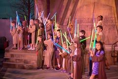 Jedi riddare Experience, Disney World, lopp, Hollywood studior arkivbild