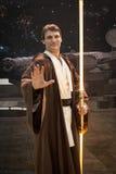 Jedi som är cosplay på G! kommer giocare i Milan, Italien royaltyfria foton
