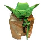 Jedi van origamiyoda royalty-vrije stock foto