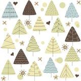 Jedlinowego drzewa doodle lasowy abstrakcjonistyczny tło ilustracji