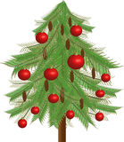 jedlinowy Bożego Narodzenia drzewo Fotografia Royalty Free