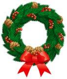 jedlinowy Boże Narodzenie wianek Obrazy Stock