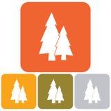Jedlinowych drzew ikony set Zdjęcia Royalty Free