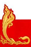 Jednakowi złoci lampasy Tajlandia. obraz royalty free