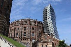 Jednakowy i niedawny budynek zdjęcie royalty free