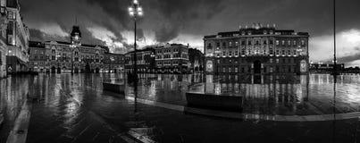 Jedność Włochy kwadrat w Trieste, Włochy obrazy stock