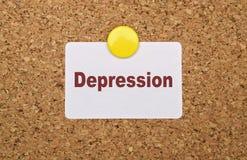 Jedno słowo depresja zdjęcie royalty free