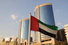 jednocząca emirat arabska flaga fotografia royalty free