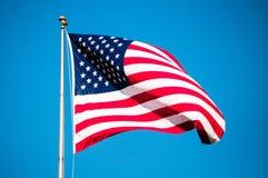 jednoczący chorągwiani America stan s Zdjęcia Royalty Free