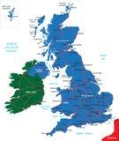 jednocząca królestwo mapa Fotografia Royalty Free