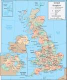 jednocząca królestwo mapa Fotografia Stock