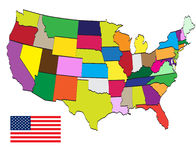 jednoczący America stan Zdjęcie Stock