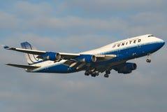 jednoczący jumbo samolot Zdjęcie Royalty Free