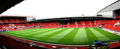 jednoczący Manchester stadium Obrazy Royalty Free
