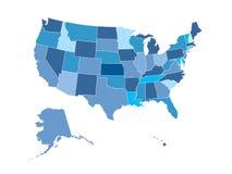 jednoczący mapa stan Zdjęcie Stock