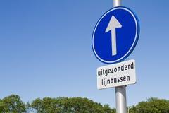 Jednokierunkowego holenderski znak Fotografia Stock