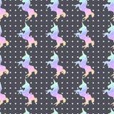 Jednorożec origami tęczy poligonalny wzór Fotografia Stock