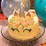 Jednorożec tort Zdjęcia Stock