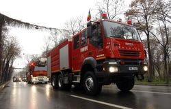Jednostek straży pożarnych ciężarówki Zdjęcia Royalty Free
